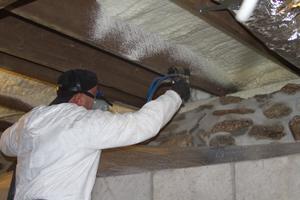 Installing spray foam in Owensboro